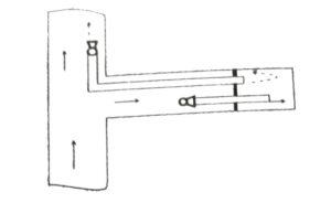 Комбинированная схема проветривания с использованием двух вентиляторов и двух воздуховодов в режиме всасывания