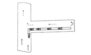 Нагнетательная схема проветривания протяжных выработок при рассредоточенной установке вентиляторов по длине воздуховода