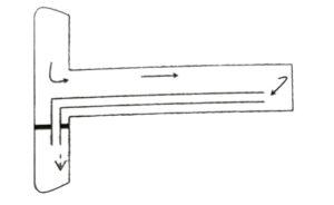 Проветривание выработок за счет общешахтной депрессии (проветривание вентиляционных трубопроводов)